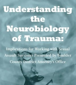 Neurobiology of trauma training